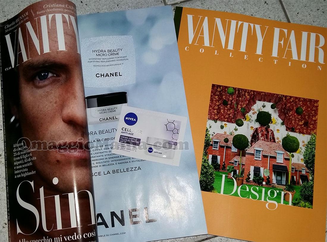 Vanity Fair 14 con campioncini Chanel e Nivea di Elena