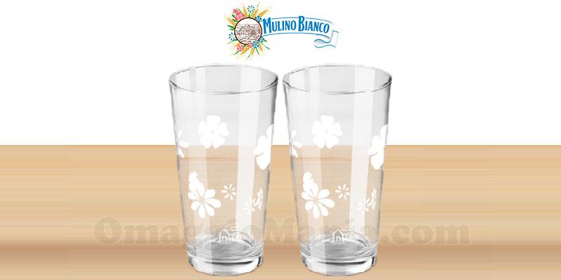 bicchieri in vetro Mulino Bianco collezione Le Cantastorie 2017