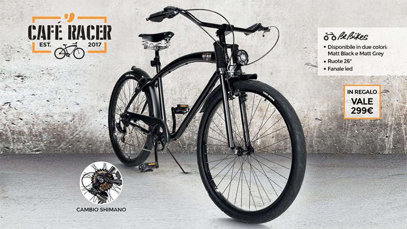 bicicletta Café Racer in regalo da Unieuro