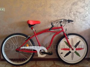 bicicletta Coca-Cola vinta da Tatiana