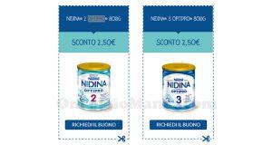 buoni sconto Nestlé Nidina Optipro