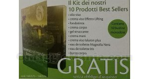 cartolina Bottega Verde 10 prodotti gratis