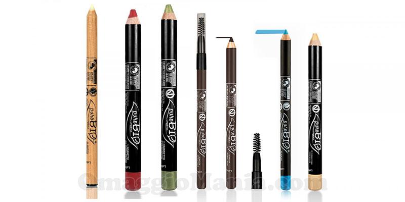 collezione matite puroBIO Cosmetics