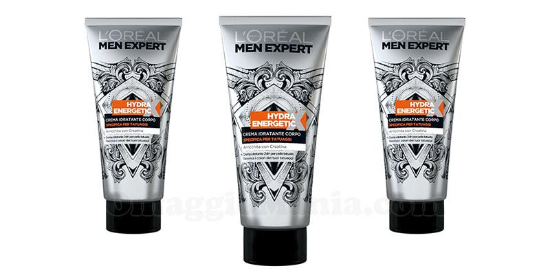 crema tatuaggi L'Oréal Men Expert Hydra Energetic X