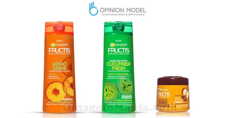 diventa tester Garnier Fructis con Opinion Model