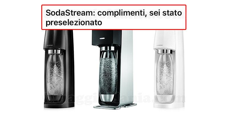 gasatori SodaStream Power e Spirit tester selezionati