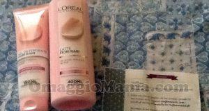 gel detergente e latte L'Oréal Fiori Rari di Claudia con Provato da Voi