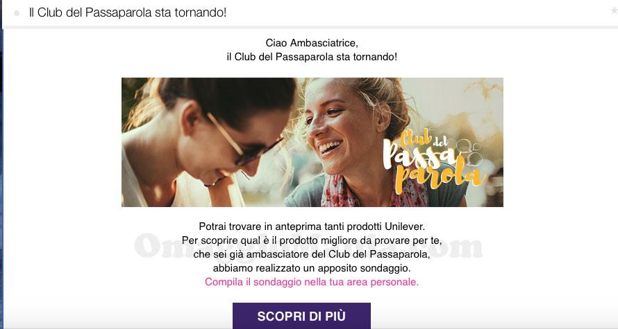 il Club del Passaparola sta tornando email
