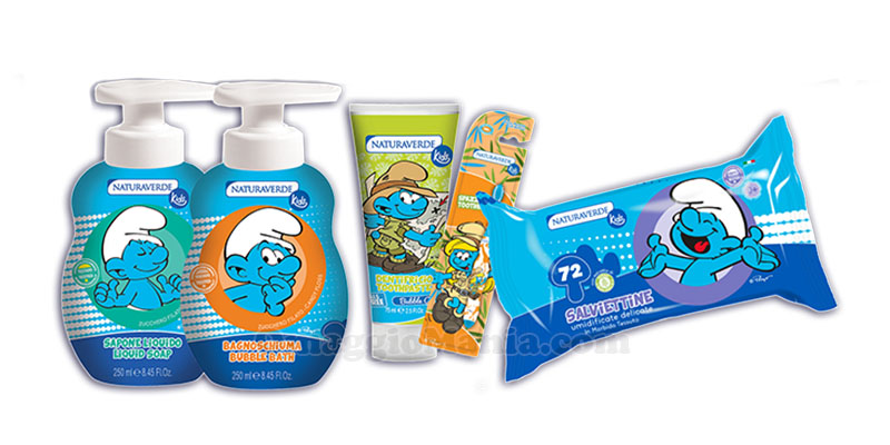 kit Personal Care Naturaverde Kids I Puffi