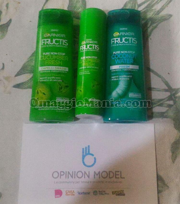 kit prodotti Garnier Fructis di Simona con Opinion Modelkit prodotti Garnier Fructis di Simona con Opinion Model