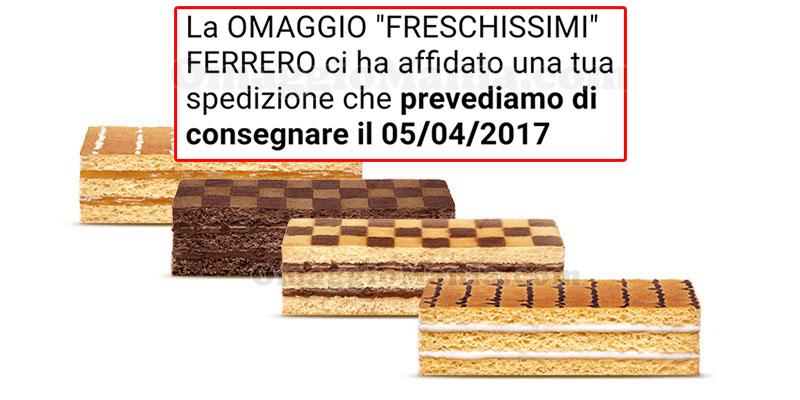 omaggio freschissimi Ferrero email