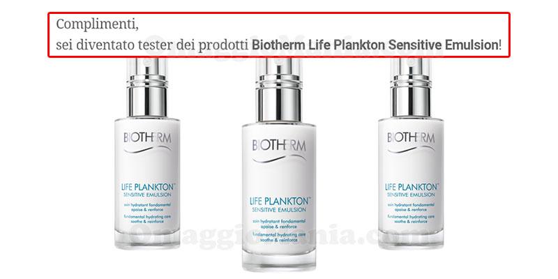 selezione tester Biotherm Life Plankton Sensitive Emulsion