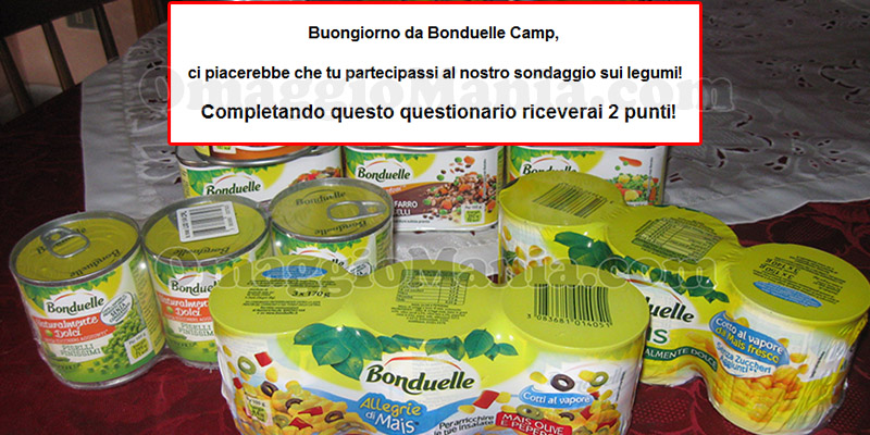 sondaggio Bonduelle Camp sui legumi