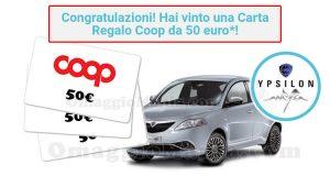 vincita carta regalo Coop 50 euro