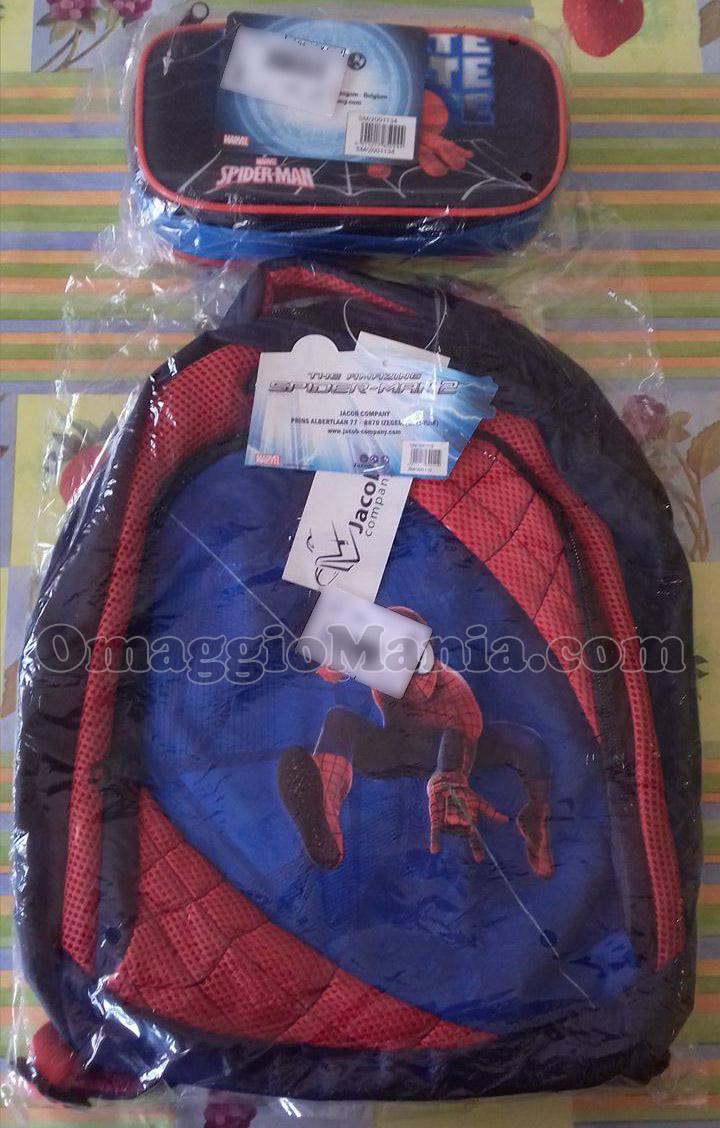 zaino e astuccio Spider Man di Marina con Showroomprive