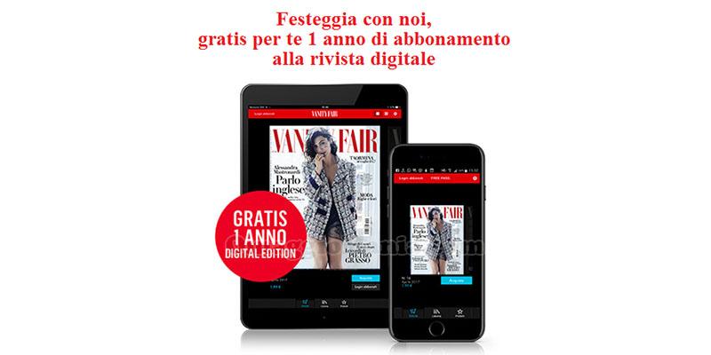 1 anno di abbonamento alla rivista digitale Vanity Fair