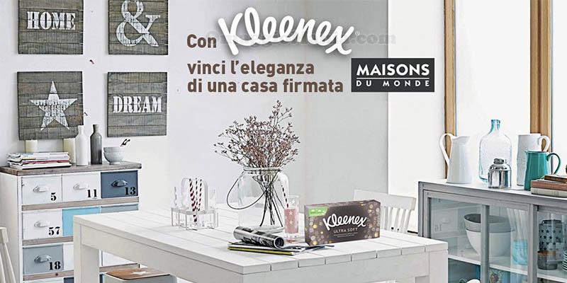 Kleenex: vinci carte regalo Maisons du Monde - OmaggioMania