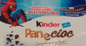 Kinder PaneCioc biglietto cinema Spider-Man Homecoming