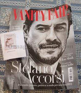 Vanity Fair 19 con campioncino Narciso Rodriguez di Rosa
