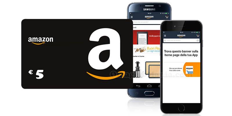 app Amazon ricevi buono sconto 5 euro maggio 2017