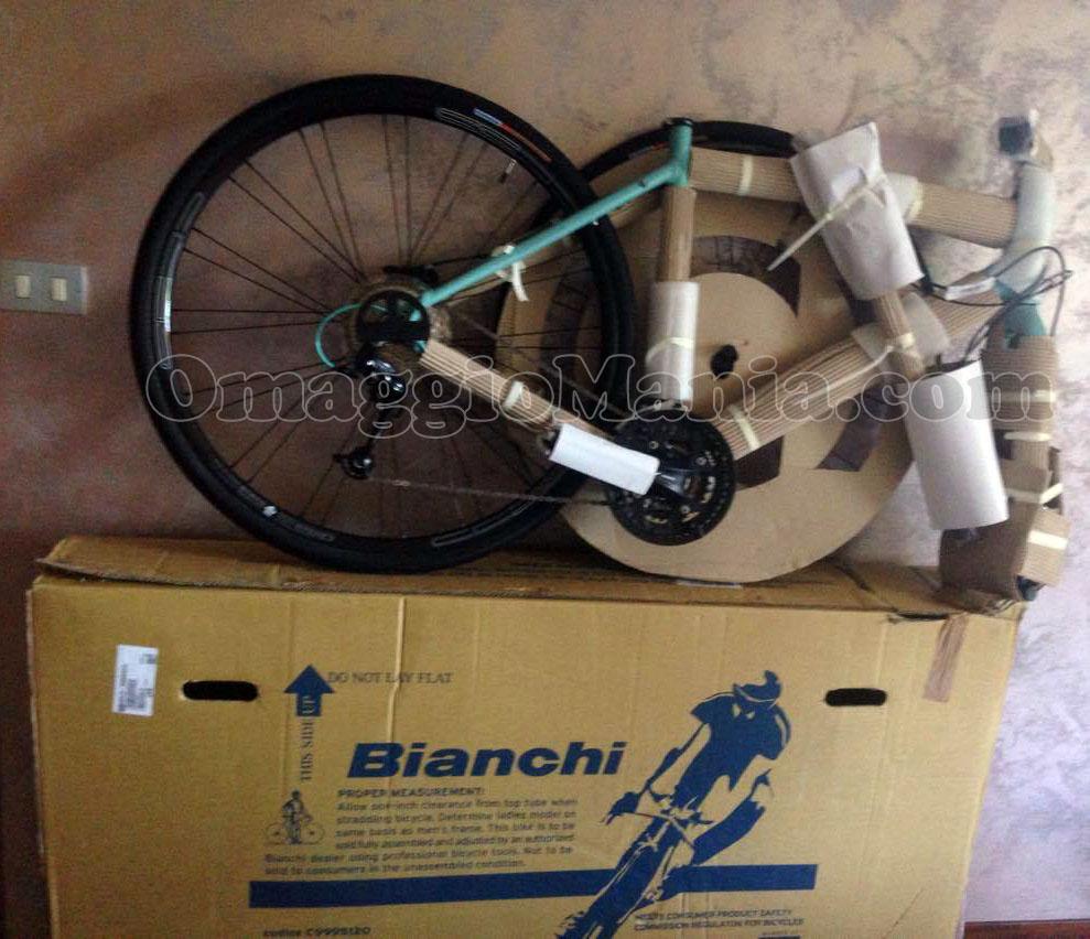 bicicletta Bianchi di Tatiana con COOP 1MilioneDi