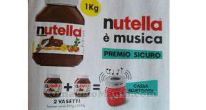 cassa bluetooth Nutella premio sicuro
