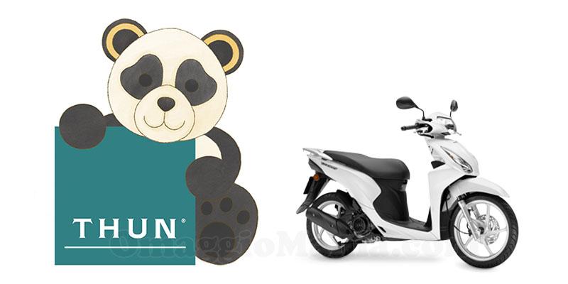 Thun panda su due ruote vinci scooter honda omaggiomania - Panda thun 2017 ...