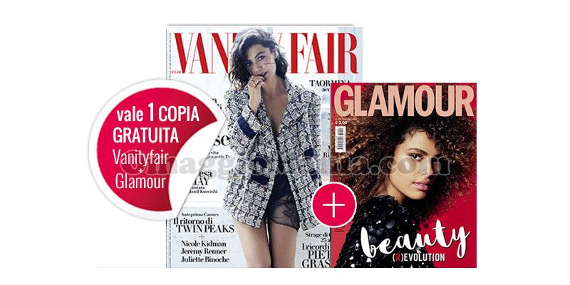 coupon omaggio Vanity Fair 20 e Glamour 299