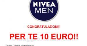 email buoni acquisto Nivea con Una campagna acquisti da 10