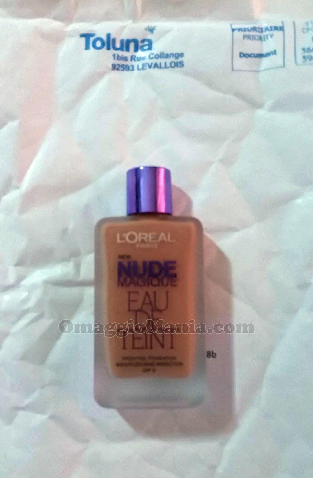 fondotinta L'Oréal Nude Magique Eau de Teint di Edy con Toluna