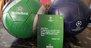palloni Heineken omaggio di Milli