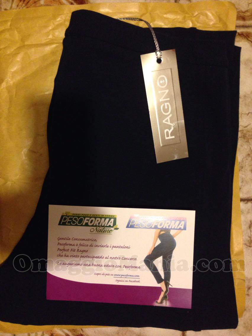 pantaloni perfect fit Ragno con Pesoforma