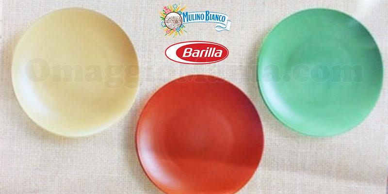 piatti in ceramica colorata Mulino Bianco Barilla