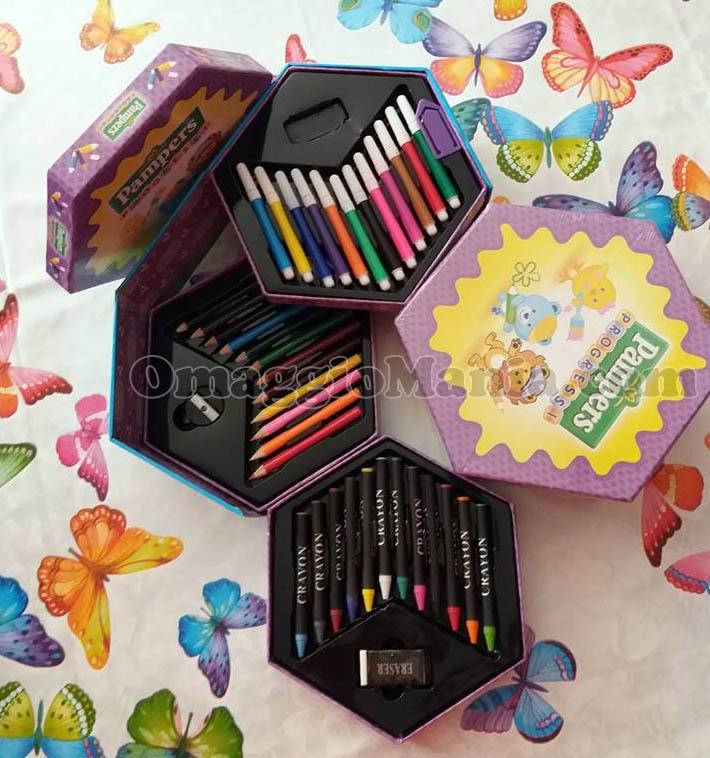 scatola colori Pampers Progressi di Milli