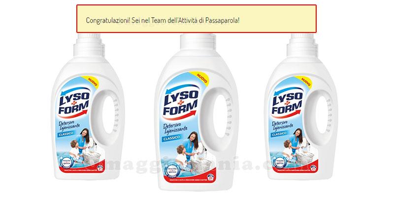 selezione 5.000 tester Lysoform Detersivo Igienizzante