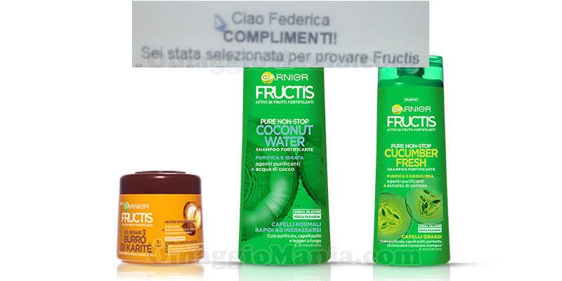 selezione tester Garnier Fructis Tester Corner