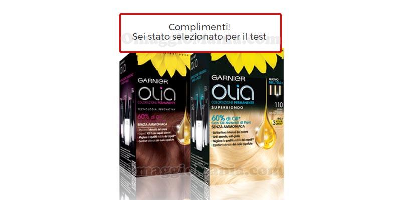 selezione tester Garnier Olia 1