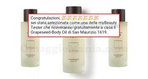 selezione tester Grapeseed-Body Oil San Maurizio 1619
