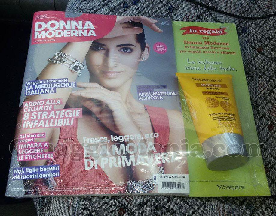 shampoo Vitalcare Nutritive con Donna Moderna di Marianna