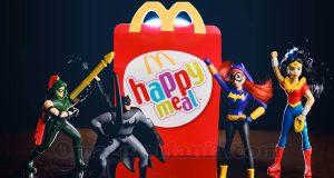 supereroi DC Super Hero Girls e Justice League con Happy Meal McDonald's
