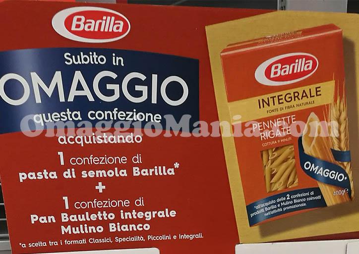 Barilla Integrale Pennette Rigate omaggio con Mulino Bianco