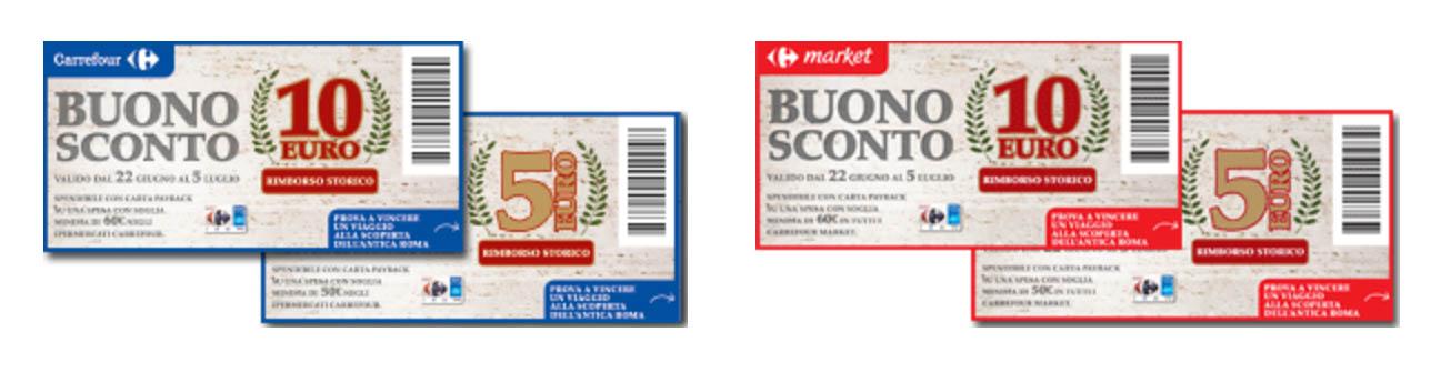 buoni sconto Rimborso Storico Carrefour 2017