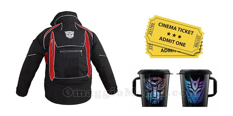 giacca drinkware e biglietti cinema Transformers