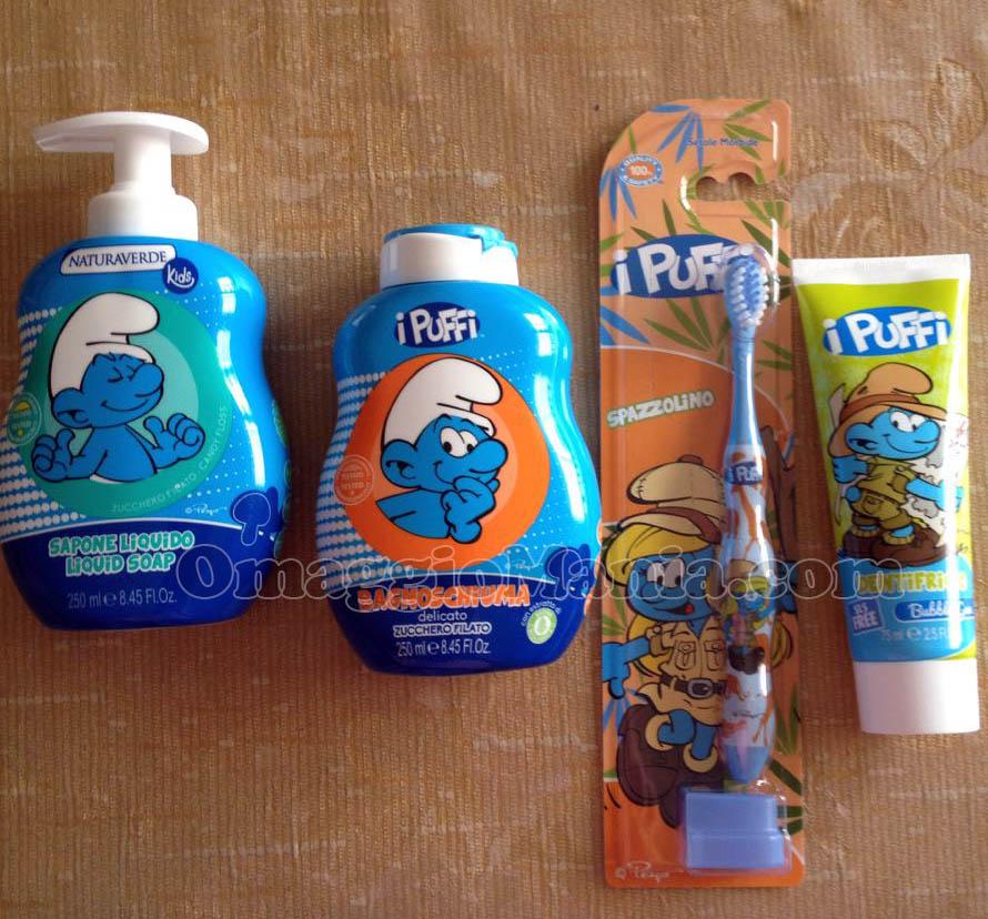 kit I Puffi Naturaverde Kids di Roberta