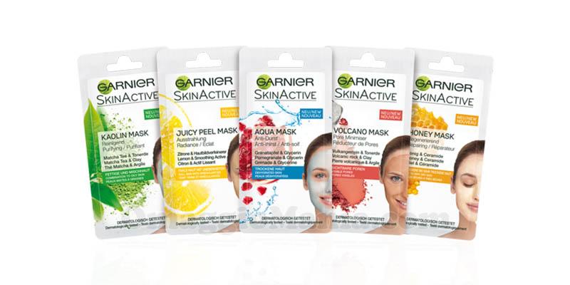kit maschere monodose Garnier SkinActive