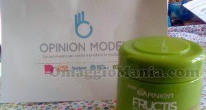 maschera Garnier Fructis di Marianna con Opinion Model