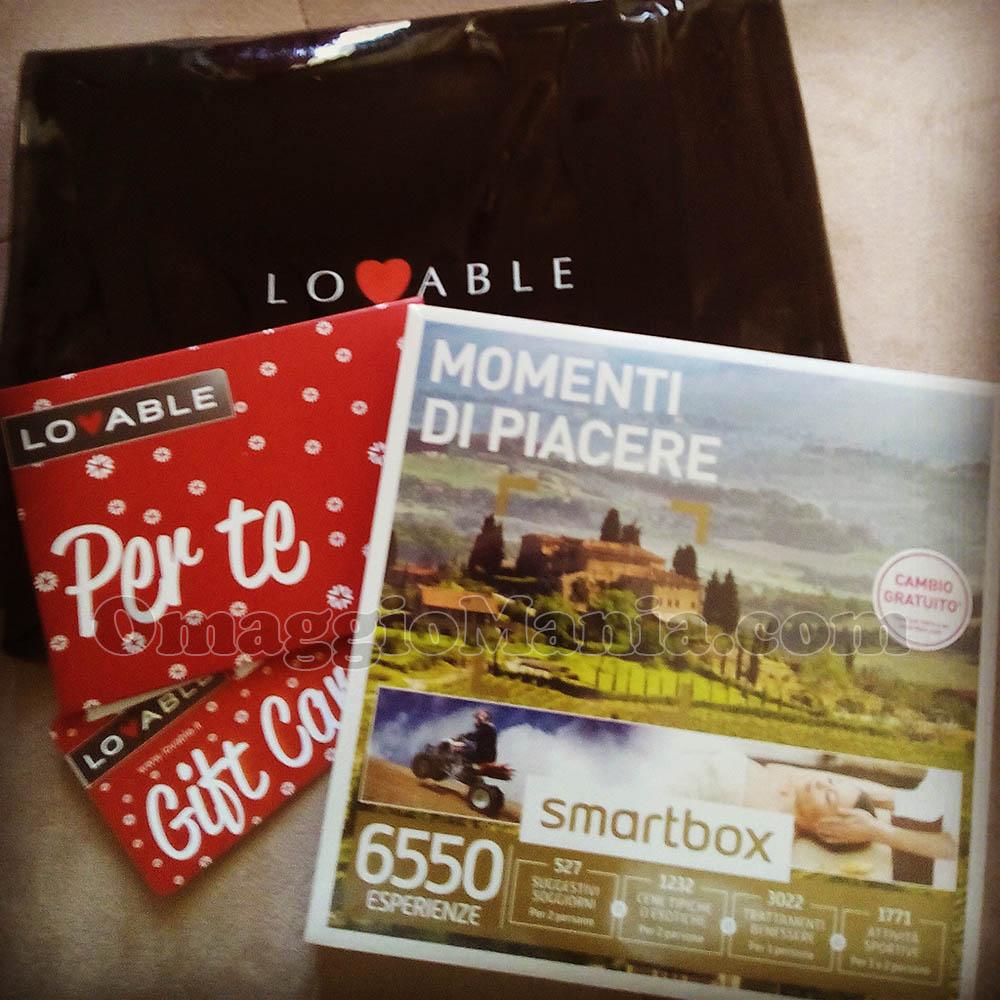 pochette, gift card e SmartBox di Fede con Lovable