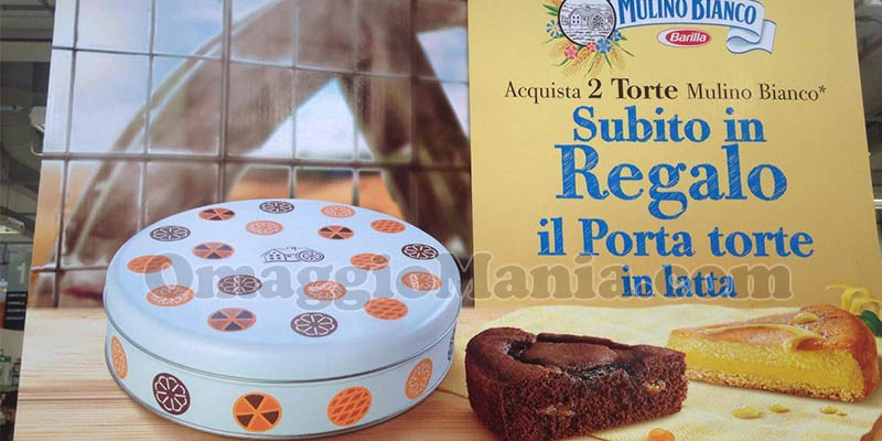 porta torte in latta Mulino Bianco di Valentina