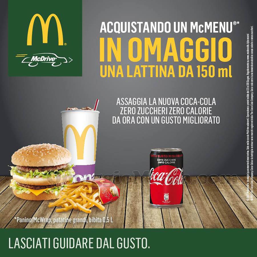 promo Coca-Cola al McDrive McDonald's