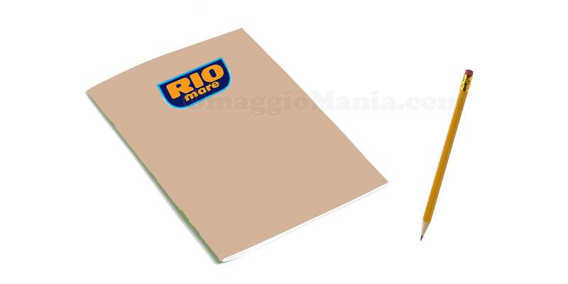 quaderno Rio Mare e matita